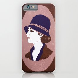 1920s Lady (linocut) iPhone Case