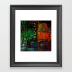 A night in Chicago Framed Art Print