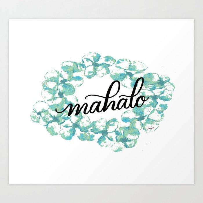 Thank you Mahalo from Hawaii Kunstdrucke