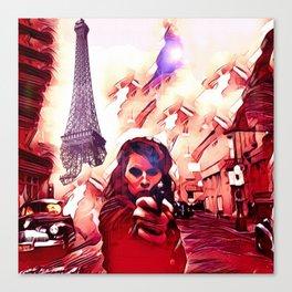 Fire Fight Canvas Print