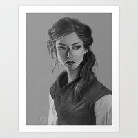 Female Squire Art Print