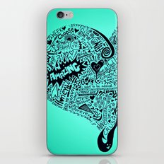 Blu Heart iPhone & iPod Skin