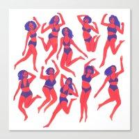 Underwear Dancing Canvas Print