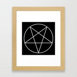 Inverted Pentagram Framed Art Print