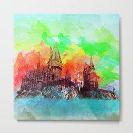 Watercolor Hogwarts Metal Print