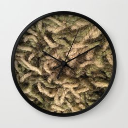 Green shag Wall Clock