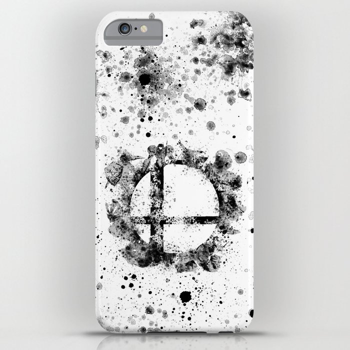 super smash bros ink splatter iphone case