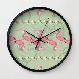 Florida Flamingo Wall Clock