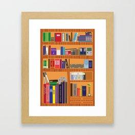 Video Game Geek's Bookshelf Framed Art Print