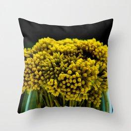 curry flower Throw Pillow