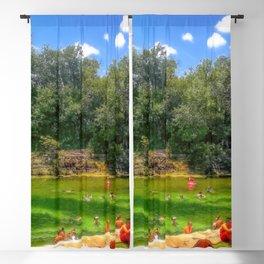 Barton Springs at Zilker Park - Austin, Texas Blackout Curtain