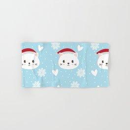 Christmas cat Hand & Bath Towel