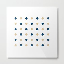 Blue and Gold Dots Metal Print