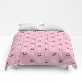 Adorable Purple Owls Comforters
