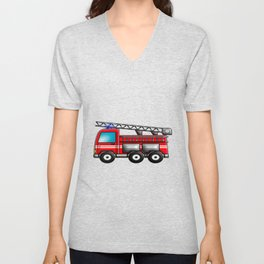 Fire engine Unisex V-Neck
