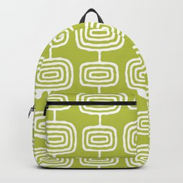 Mid Century Modern Atomic Rings Pattern Chartreuse Backpack