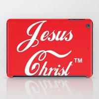christ iPad Cases featuring JESUS CHRIST by The Fugu Project