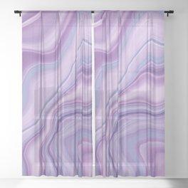 Liquid Unicorn Agate Dream #1 #pastel #decor #art #society6 Sheer Curtain