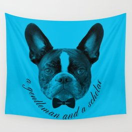 James: A Gentleman and a Scholar in Blue Wall Tapestry