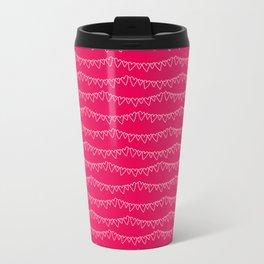 Red & White Heart Garland Travel Mug