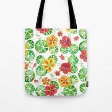 Watercolor Nasturtiums Tote Bag