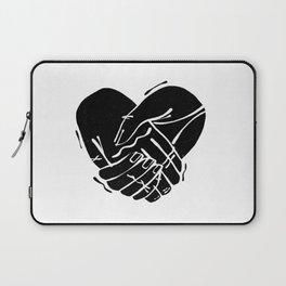 Heart Hands | Black on White | Alex Gold Studios Laptop Sleeve