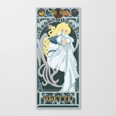 Odette Nouveau - Swan Princess Canvas Print