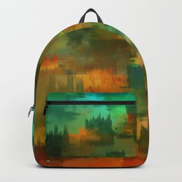 """""""Abstract forest in Autumn"""" Backpack"""