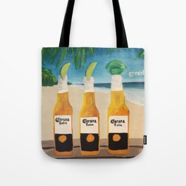 Greedy - Corona Ad Painting Tote Bag