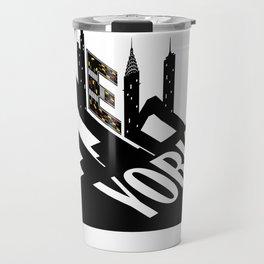 New York City Typographic Design For Big Apple Fans design Travel Mug