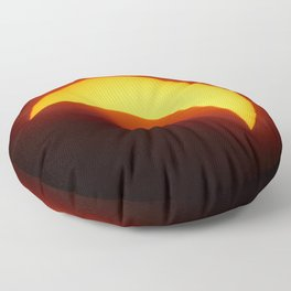 Partial Solar Eclipse Floor Pillow