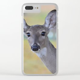 Eyes as big as saucers & as black as coal! Clear iPhone Case