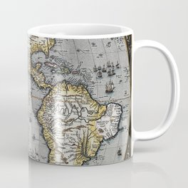 America Old Map 1570 Coffee Mug