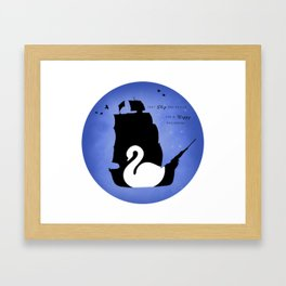 CAPTAIN SWAN (Blue) Framed Art Print