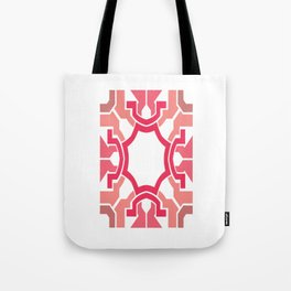 Pink rectangle Tote Bag