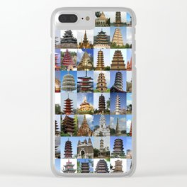 Pagodas Montage Clear iPhone Case