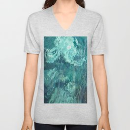 ocean waves abstract feeling  Unisex V-Neck