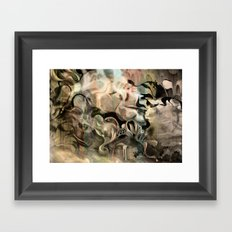 Fluidity Noir Framed Art Print