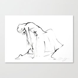 Ballet Dance Drawing Canvas Print