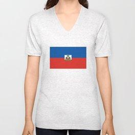 Haiti country flag Unisex V-Neck