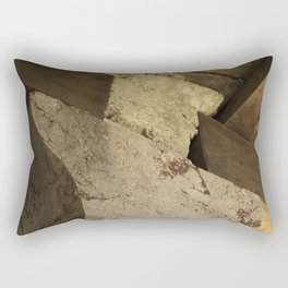 Structural element of ancient greece architecture. (natural version) Rectangular Pillow