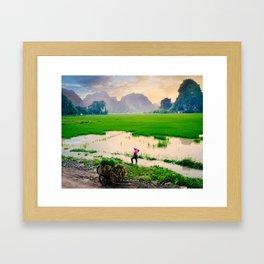 Idyllic Vietnam Countryside Framed Art Print