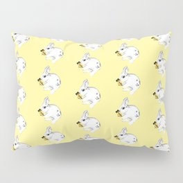 Some'bunny' Loves You...LOTS! (on yellow) Pillow Sham