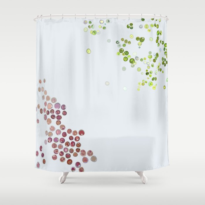 Red & green algae Shower Curtain