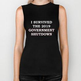 I SURVIVED THE 2019 GOVERNMENT SHUTDOWN Biker Tank