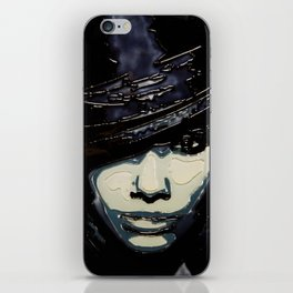 Black and Blue iPhone Skin