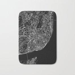 Lisbon Black Map Bath Mat