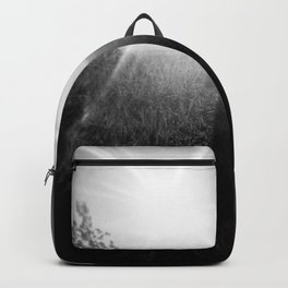 Sunlight, Shadows and Self-reflection in Black and White - Film Double Exposure Photograph Backpack
