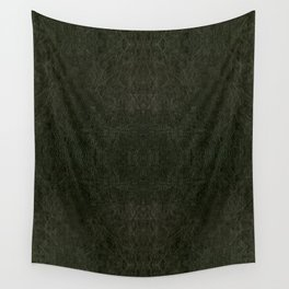 Green porous leather sheet texture abstract Wall Tapestry