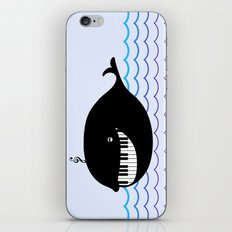 whale  (water proof piano!) iPhone & iPod Skin